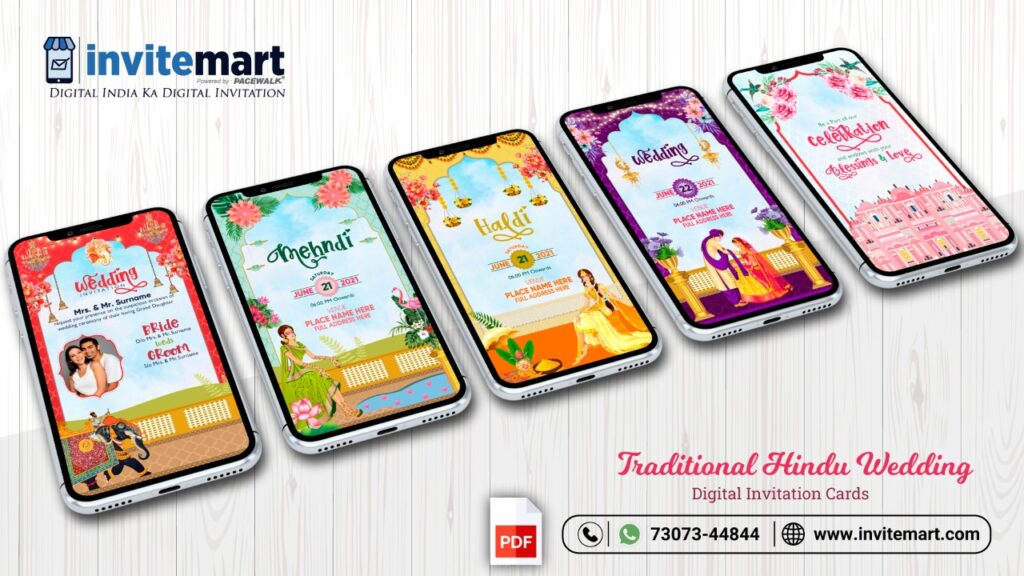 Traditional Hindu Wedding Digital Invitation card