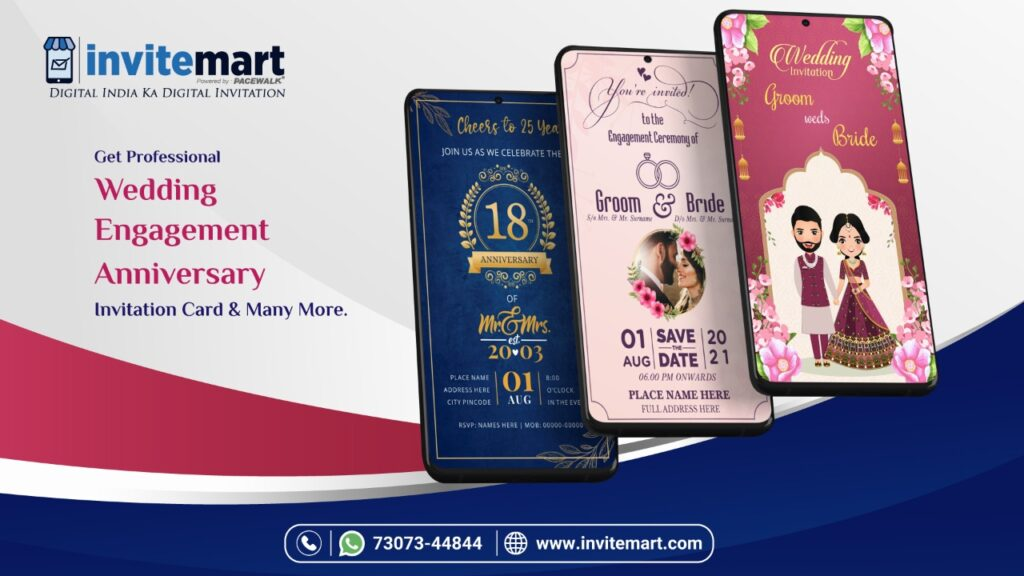 Wedding And Engagement Anniversary Invitation Ecard