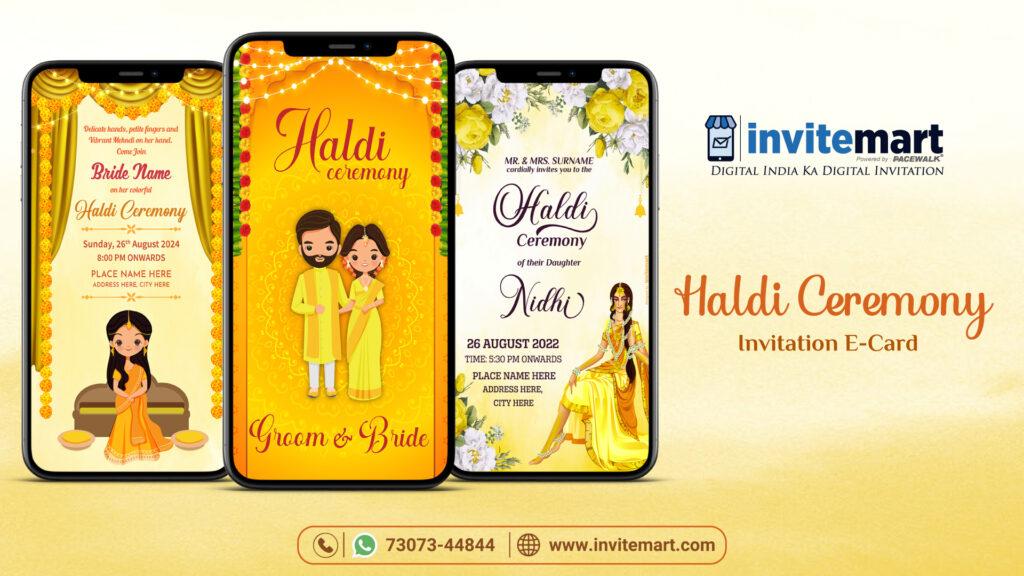 Haldi Ceremony Invitation E-card