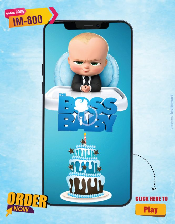 Boss Baby Birthday Invitation Video