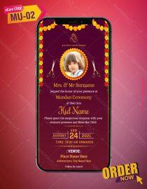 Mundan Ceremony E-Invitation