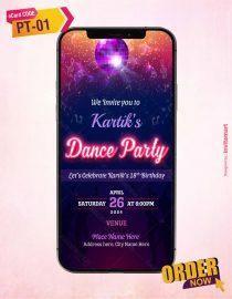 Dance Party Invitation Card