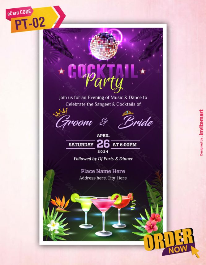 Cocktail Party Invitation Card