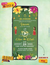 Floral Theme Wedding Invitation Video