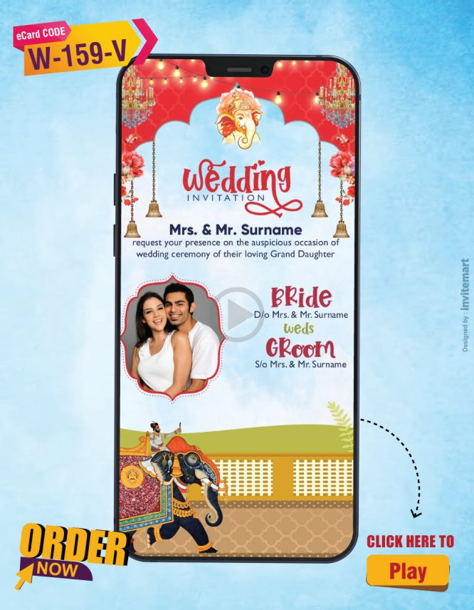 Indian Bridal Mehndi Haldi and Wedding Invitation Video