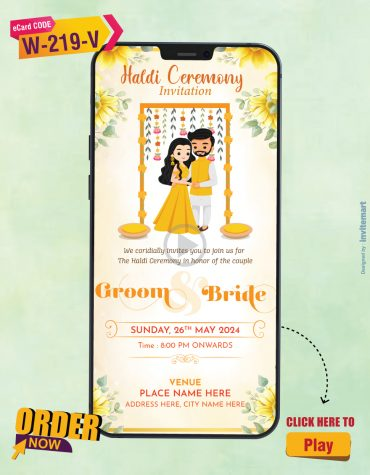 Floral Haldi Ceremony Invitation Video