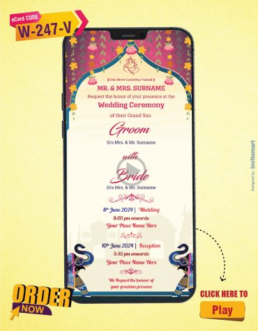 Beautiful Traditional Indian Wedding Invitation Video