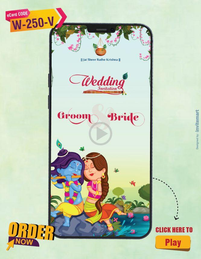 Radha Krishna Theme Wedding Invitation Video