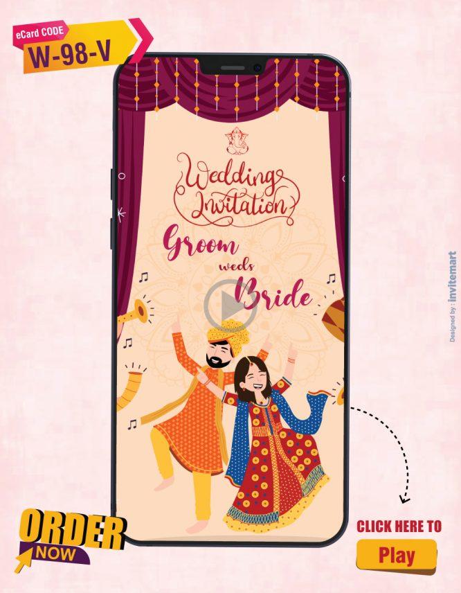 Bhangra Theme Wedding Invitation Video