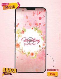 Floral Wedding Invitation Video