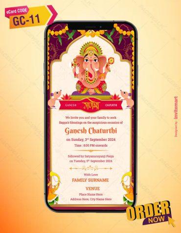 Digital Ganesh Chaturthi Invitation