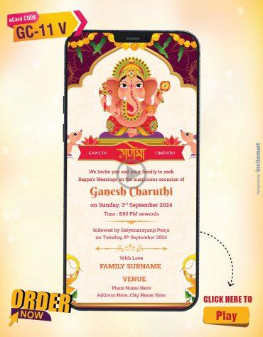 Digital Ganesh Chaturthi Invitation Video