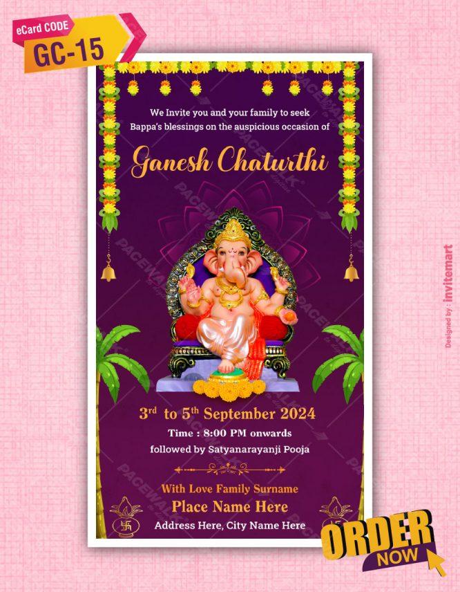 Ganesh Chaturthi Invites