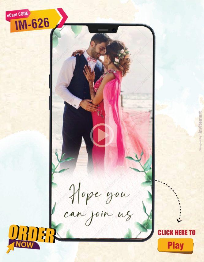 Digital Save The Date Wedding Invite