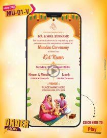 Mundan Ceremony Invitation Video