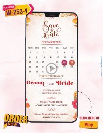 Rose Calender Save The Date Video