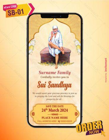 Sai Sandhya Invitation