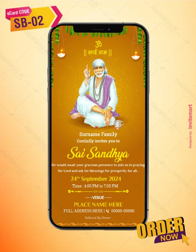 Sai Sandhya Invitation Card