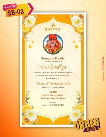 Sai Bhajan Sandhya Invitation Card