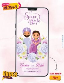 Purple Themed Save the Date Video