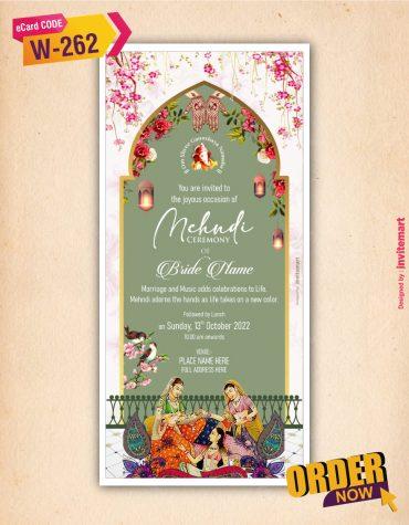 Mehndi Invitation Card