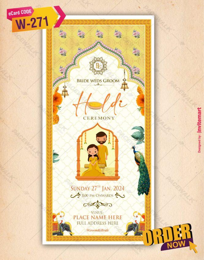 Traditional Haldi Ceremony Invitation