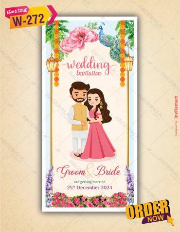 Couple Wedding Invitation Card