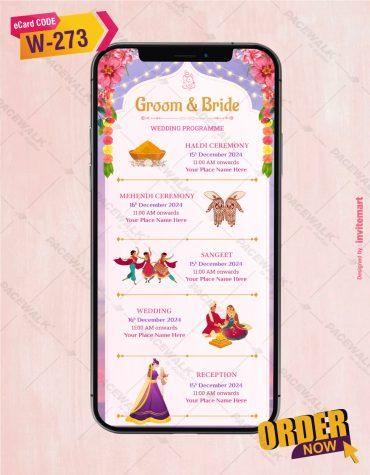 Multiple Events Wedding Invite