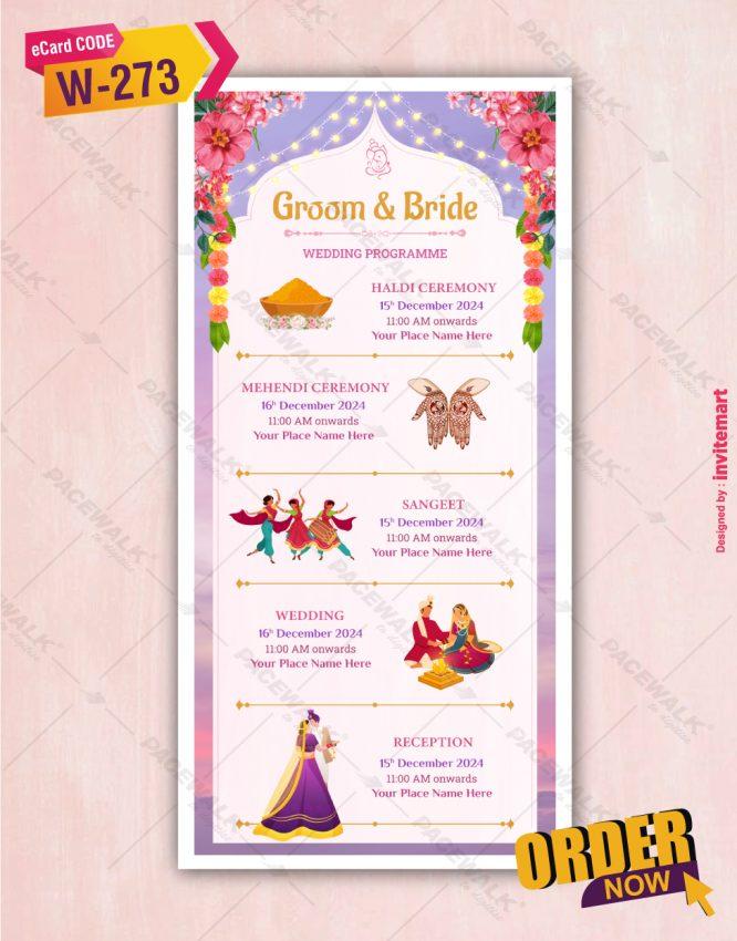 Multiple Events Wedding Invitation