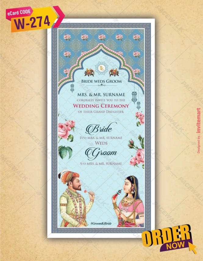 Traditional Wedding Invitation Card