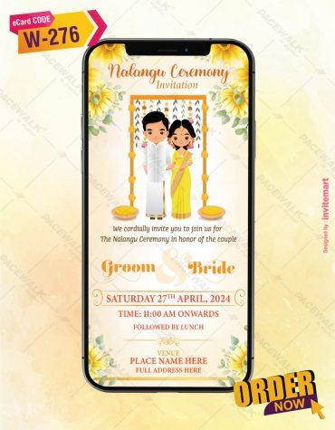 Nalangu Ceremony Invitation