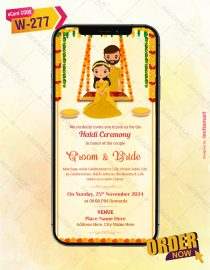 Haldi Ceremony Invite