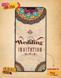 Mandala Theme Wedding Invitation Video