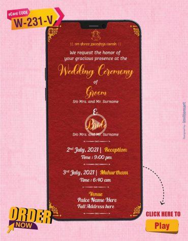 South Indian Wedding Invitation Video