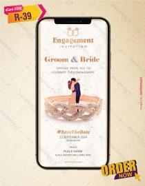 Elegant Engagement Invitation