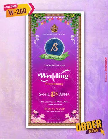 Wedding Ceremony invite Card