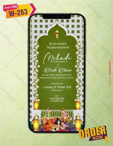 Mehndi Ceremony Invite